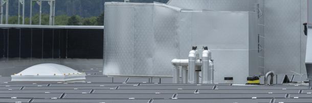 Solartechnik auf dem Dach der K3 Handwerkcity
